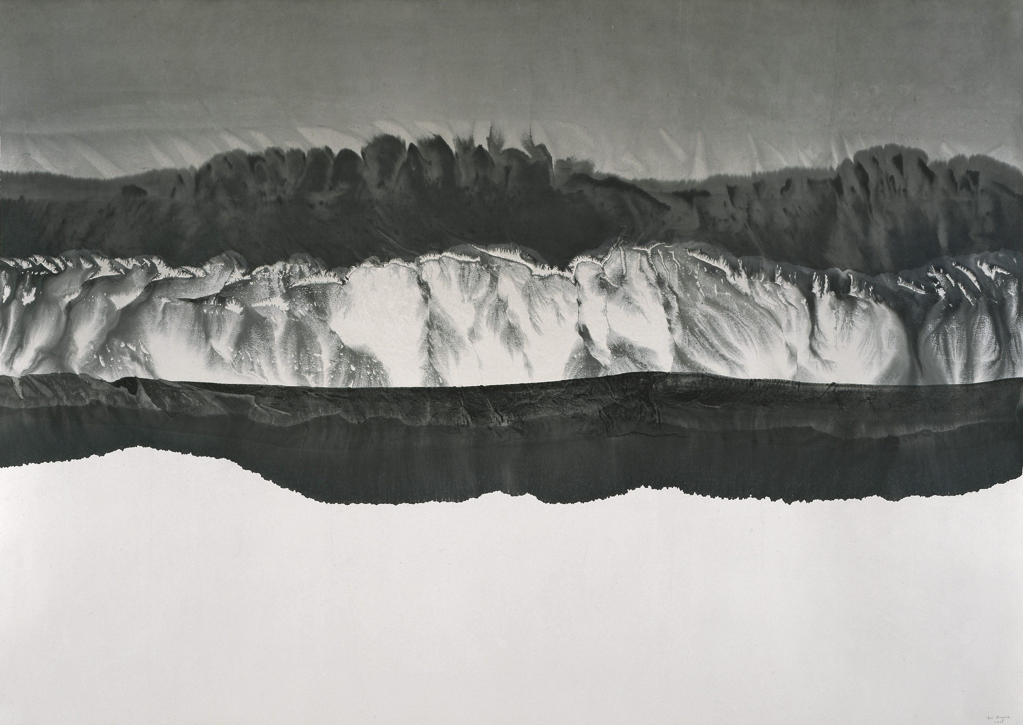"Gao Xingjian, ""Montagne de Reve"" (146cm x 207cm), 2005: Ink on Paper"
