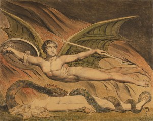 Satan Exulting over Eve by William Blake, 1795