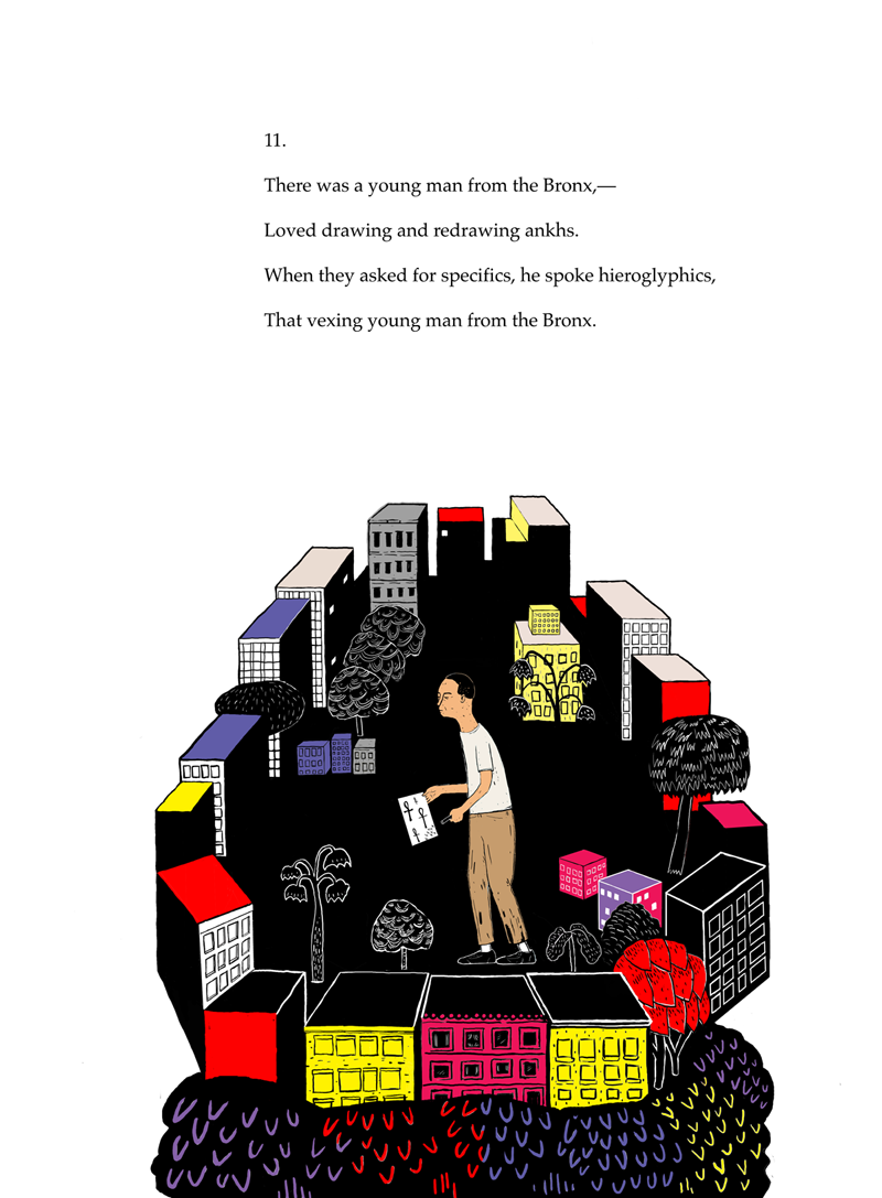 Limerick No. 11 (2013) Poem by Anthony Madrid. Illustration by Mark Fletcher