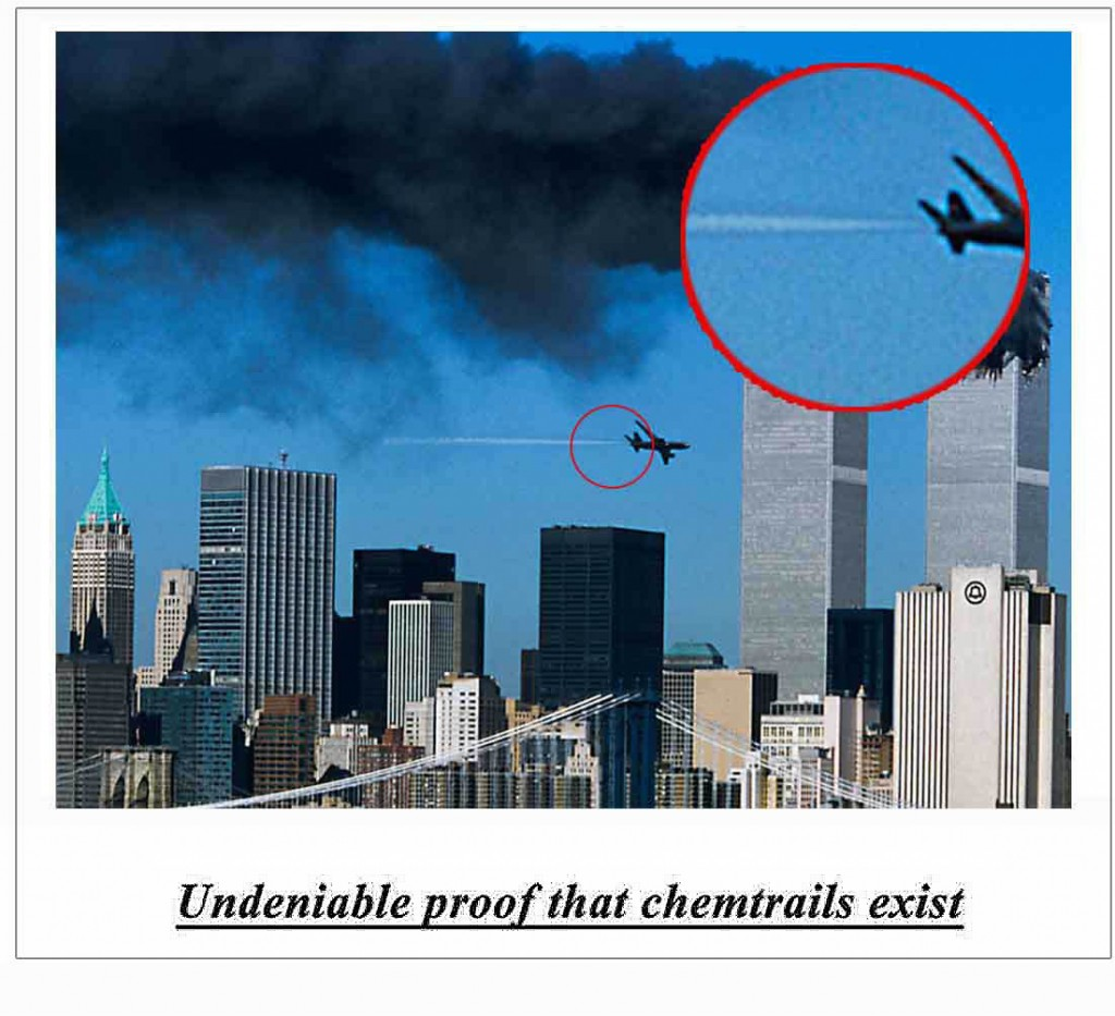 Undeniable proof that chemtrails exist, 2013, (from Theorist)