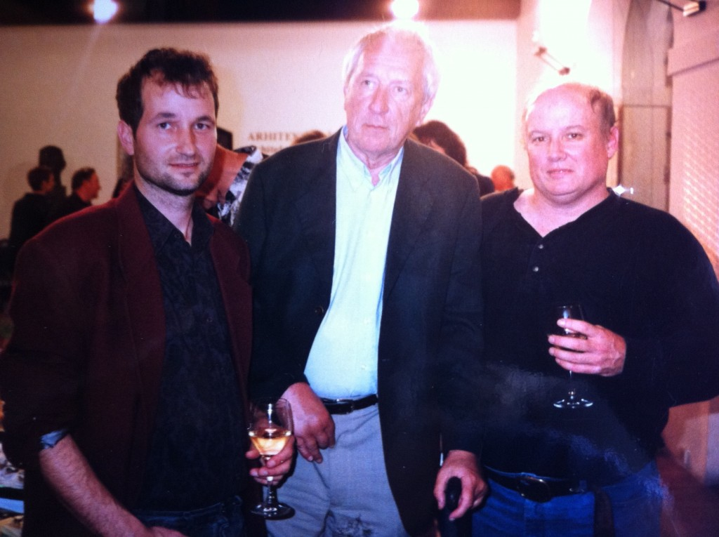 Aleš Debeljak (left) with Tomas Tranströmer (center) and Richard Jackson (right)