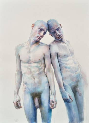 "Mirror Series I, 2013, watercolor on paper, 22"" x 30"""